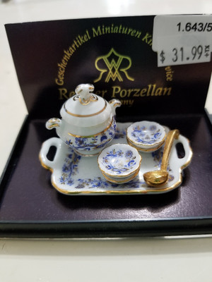 Reutter Porzellan - Blue Onion Soup Set