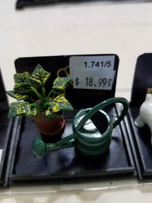 Reutter Porzellan -  Potted Plant & Watering Can