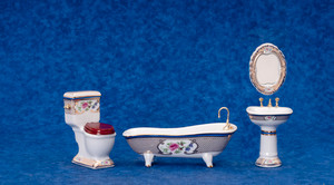 Porcelain Bathroom Set - 4 pc.
