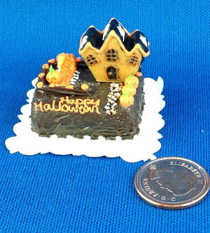 Halloween Mansion Cake