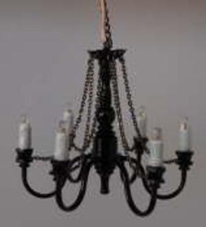 LED Battery Ceiling Chandelier - Black