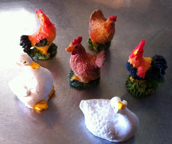 Barnyard Birds - set of 6