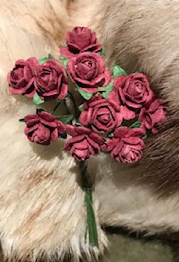 Burgandy Paper Roses