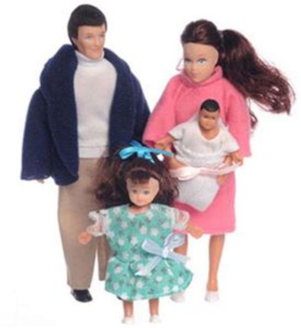 Brunette Family of Dolls