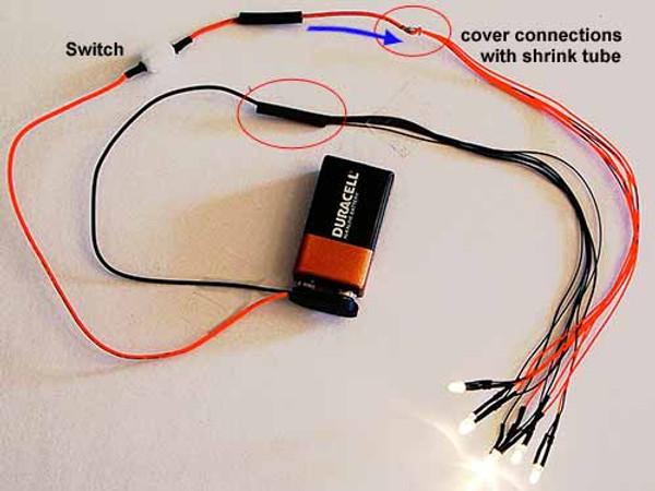 9v Battery Snap Switch Combo