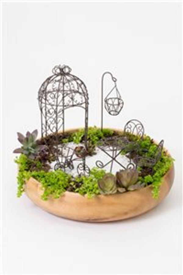 6 Pc. Wire Garden Set (Gazebo)