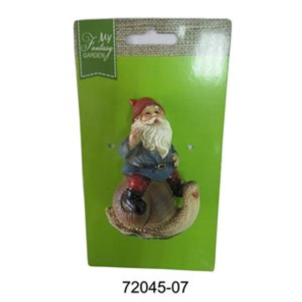 Gnome Riding Snail