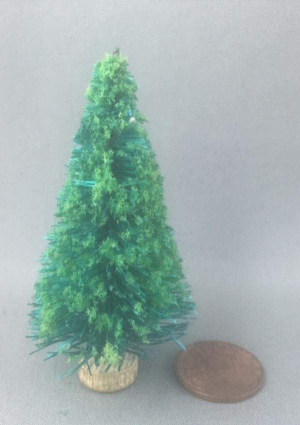 "2 1/2"" Flocked Christmas Tree - Undecorated"