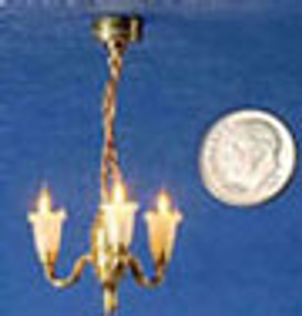 3 Arm Chandelier with Clear Shades