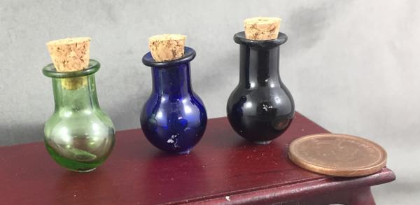 Coloured Bottle with Cork - Round Bottom