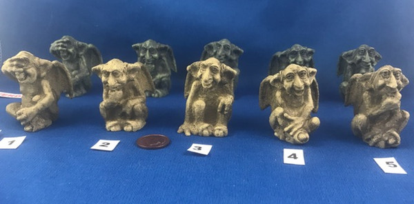Five different gargoyles to choose from.