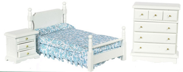 3 PC. White Bedroom Set