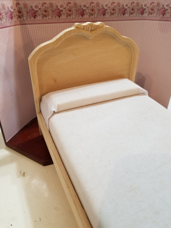 Unfinished Wooden Double Bed