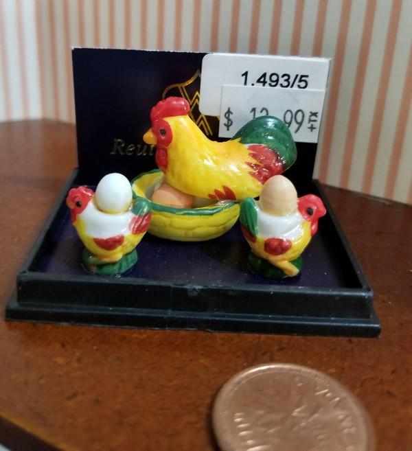 Reutter Porzellan -   Rooster Dish & Eggs Set