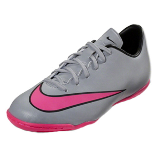 NIKE MERCURIAL VICTORY IC wolf grey/pink indoor soccer shoes