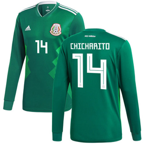 ADIDAS MEXICO WORLD CUP 2018 `CHICHARITO` HOME L/S JERSEY