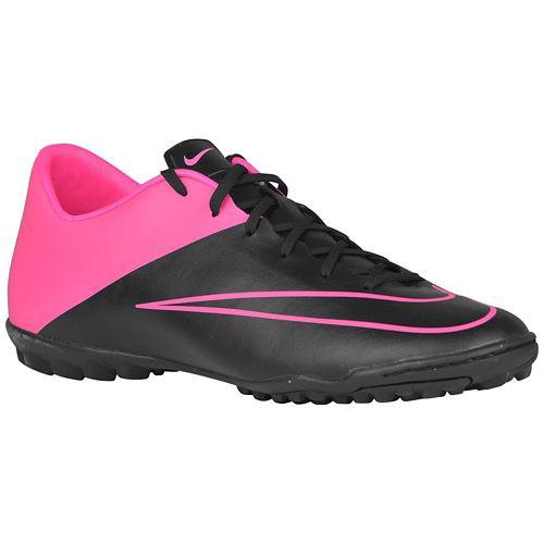 NIKE MERCURIAL VICTORY V TF BLACK HYPER PINK turf soccer shoes