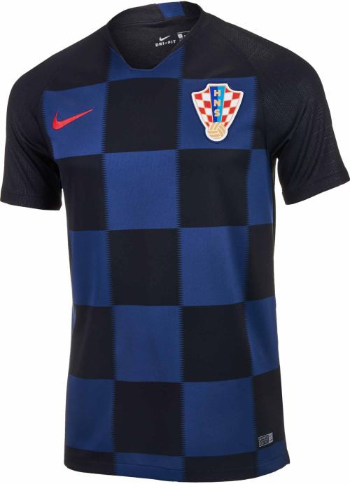 Soccer - JERSEY BLACK CROATIA Plus NIKE AWAY 2018