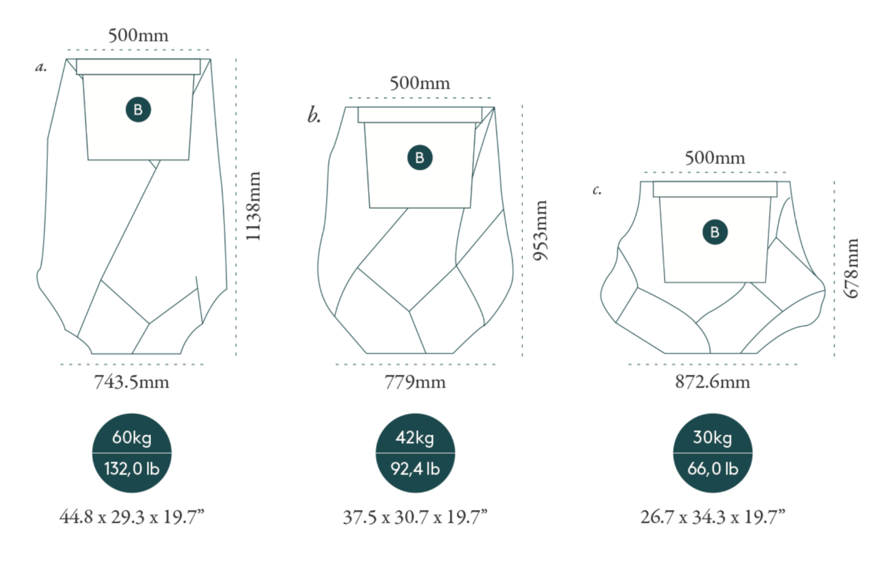 bhaca planter dimensions