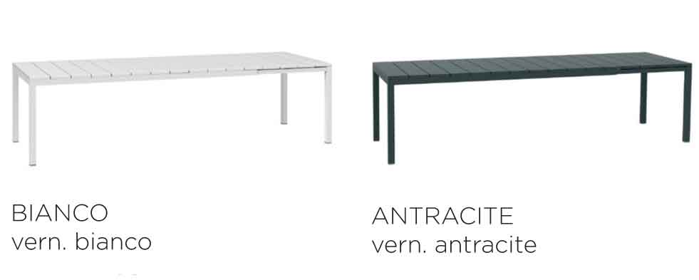 Available in two finishes - Rio 210 Table