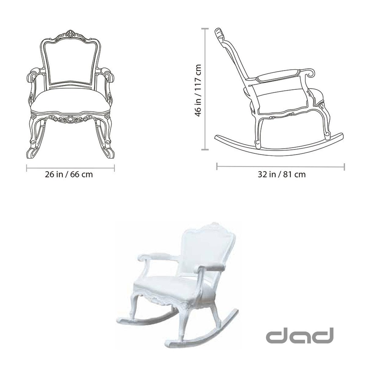 Dad rocking chair dimensions
