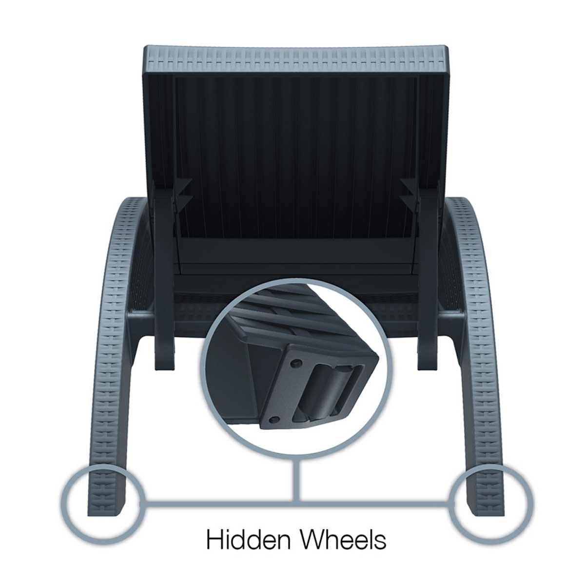 FIJI Chaise Rear Wheels