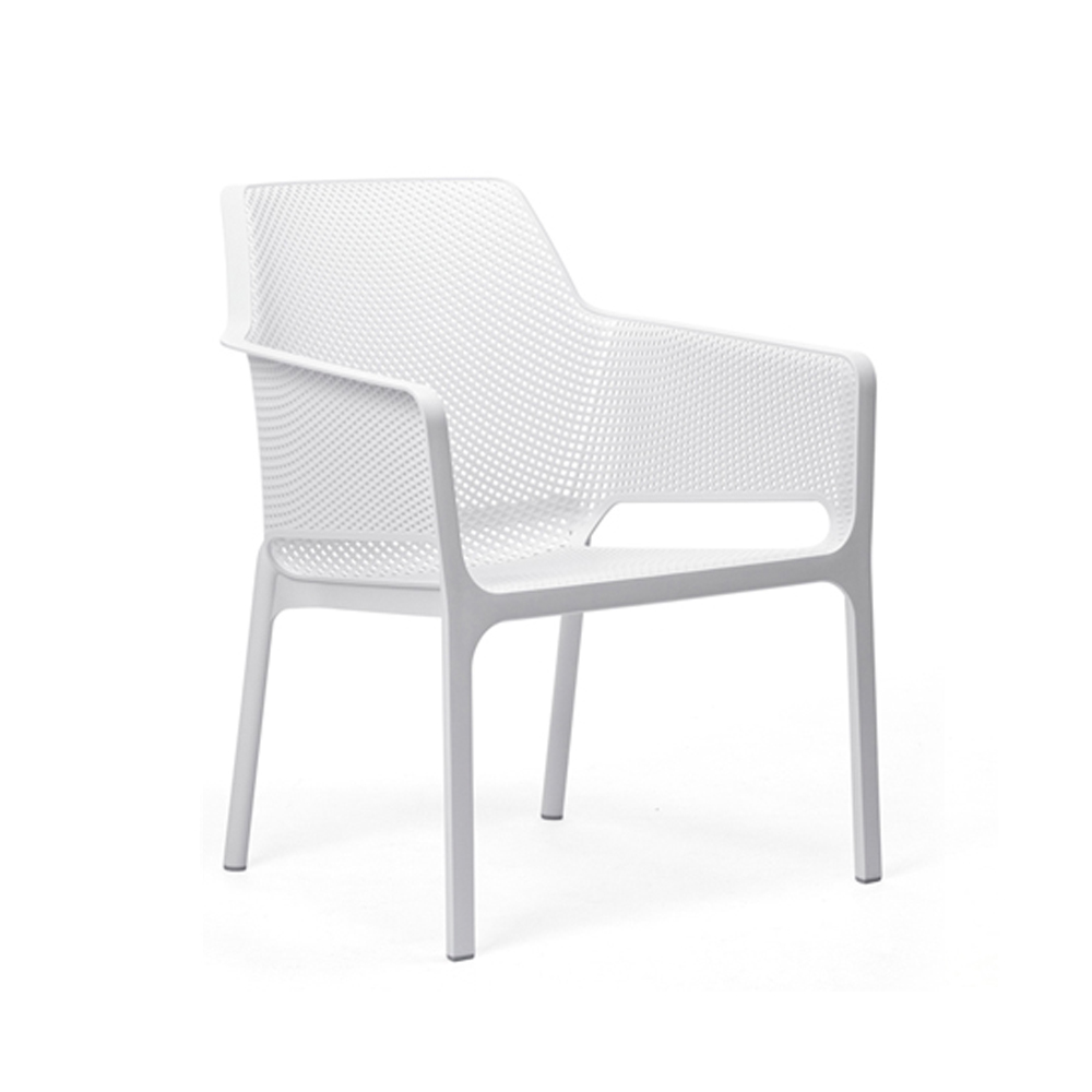 The Net Relax Chair shown in White Finish
