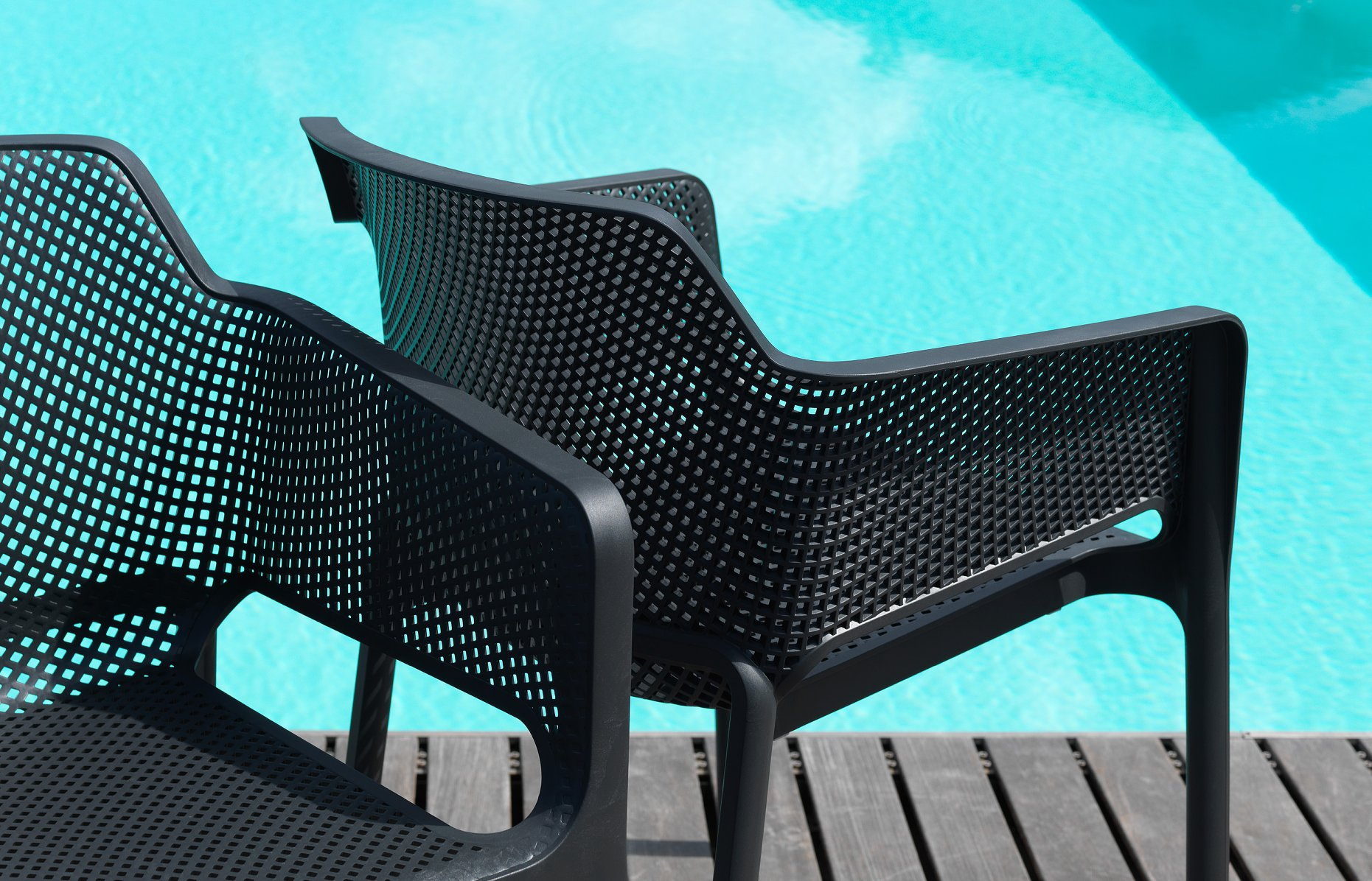 Net Relax Chairs Poolside