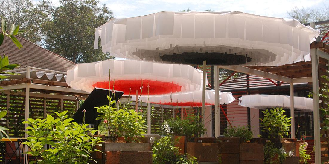 Bloom Umbrella on Site