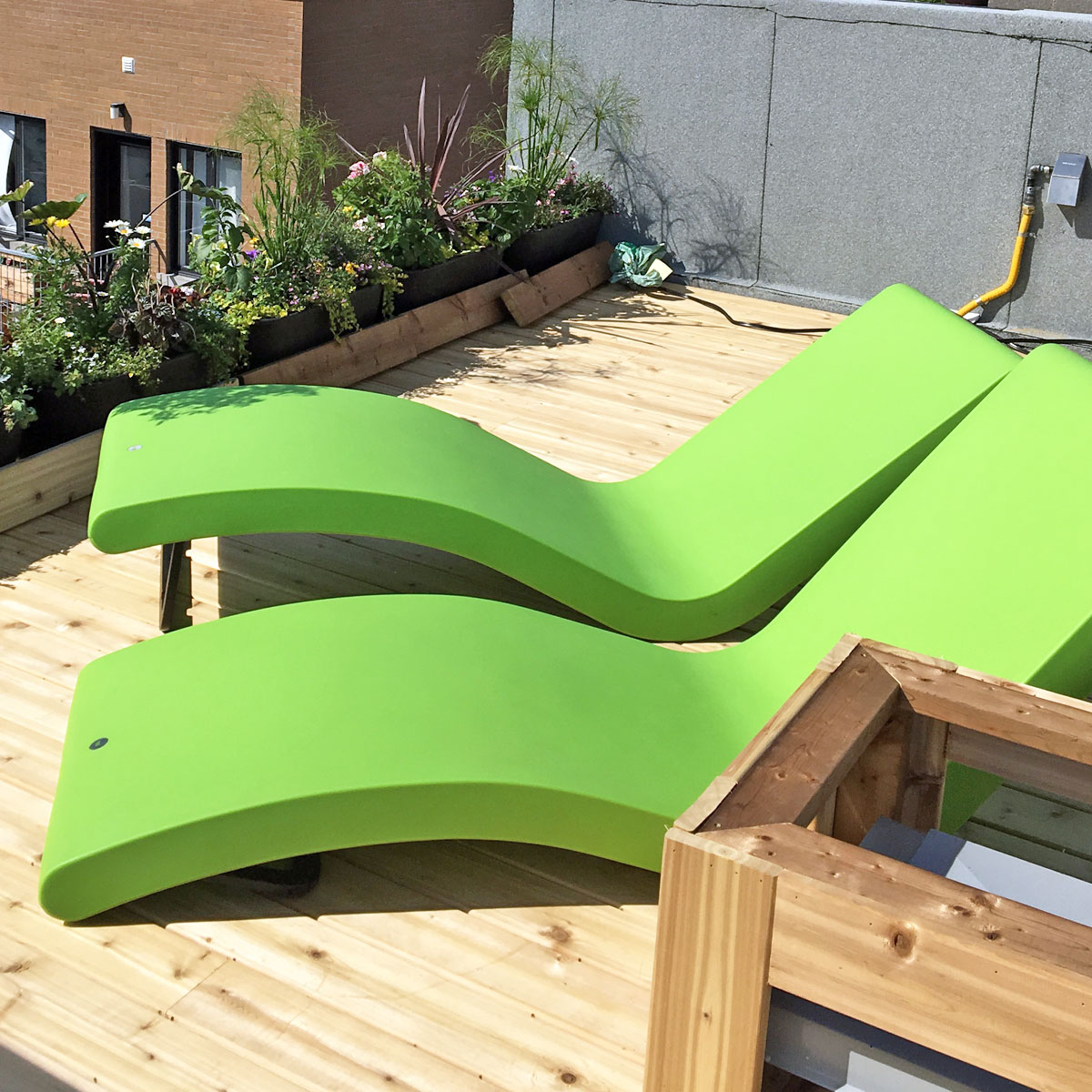 Rooftop Chaises Pair in Winter Months