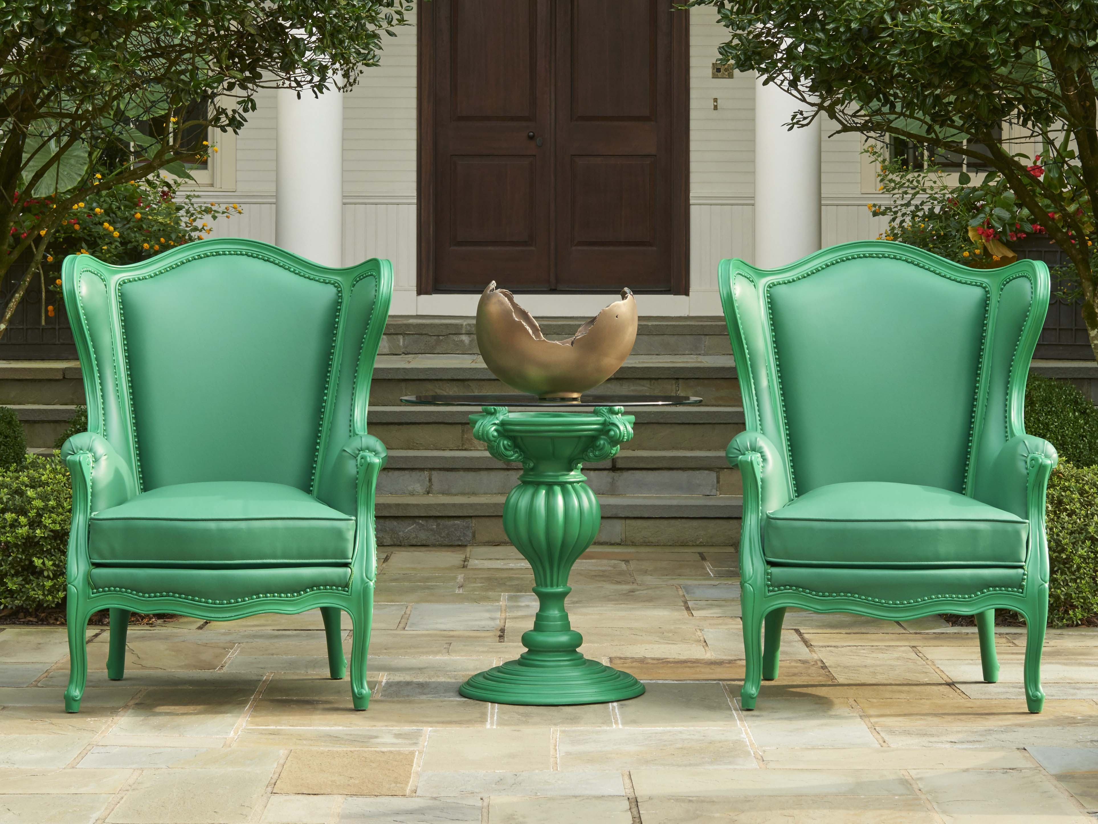 Wing Chairs commanding attention in outdoor conditions