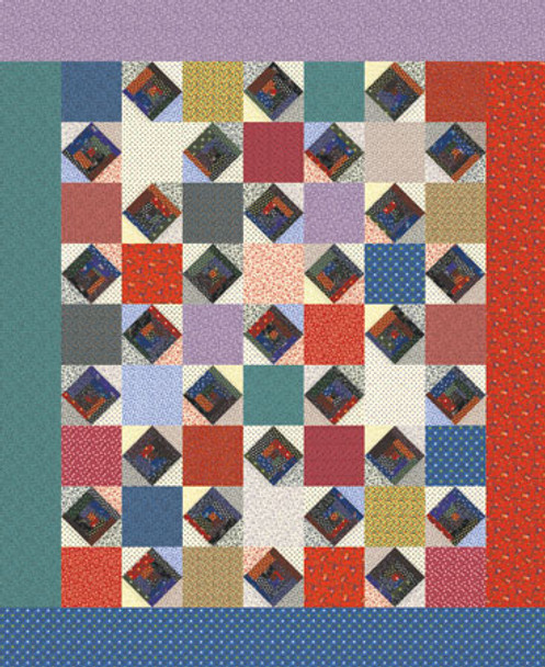 American Star Paper Pieced Quilt Pattern
