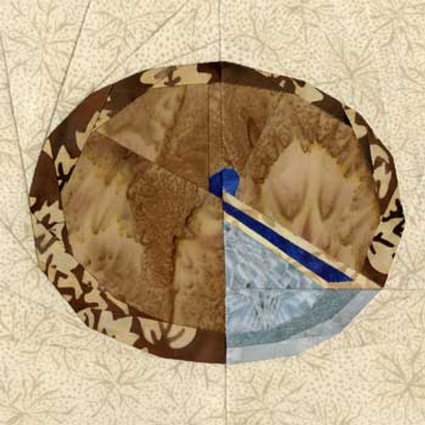 Blueberry Pie Paper Pieced Quilt Block Pattern
