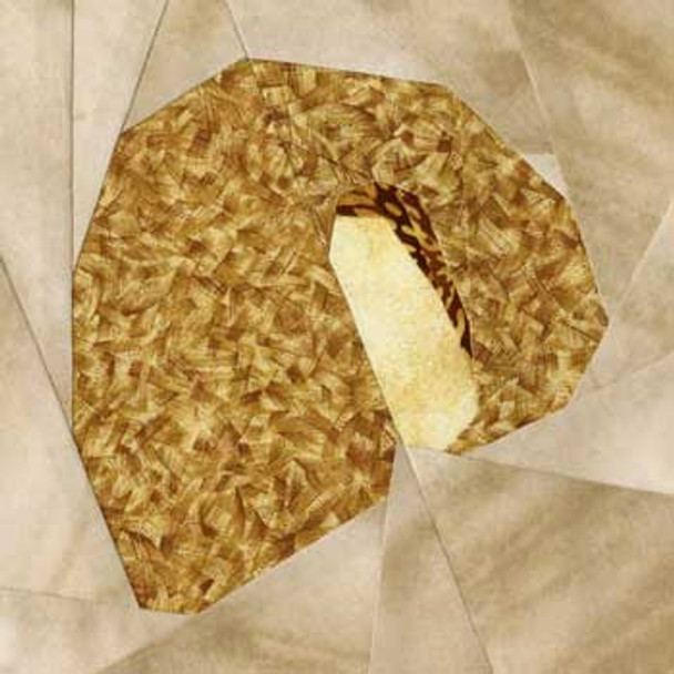 Cheese Danish Paper Pieced Quilt Block Pattern