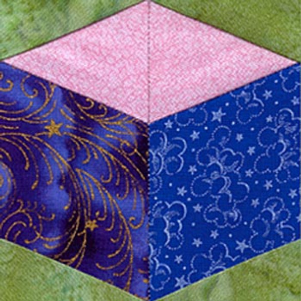 Baby Block Paper Pieced Quilt Block Pattern
