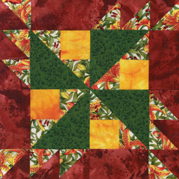 Paper Daisy Paper Pieced Quilt Block Pattern