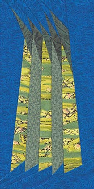 Asparagus Paper Pieced Quilt Block Pattern