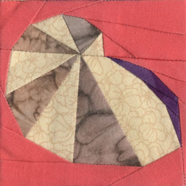 Chambered Nautilus Paper Pieced Quilt Block Pattern