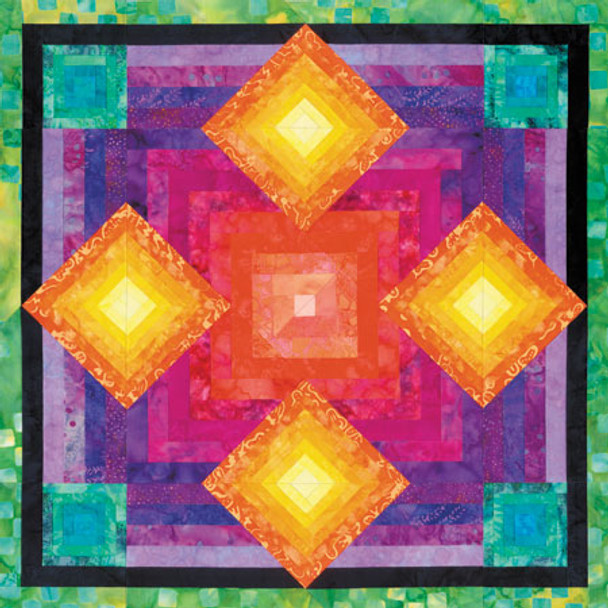 Stacked Boxes Paper Pieced Quilt Pattern