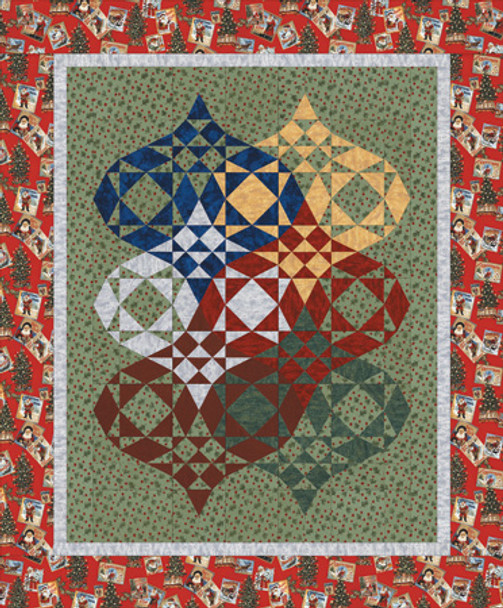 Ornamental Bliss Paper Pieced Quilt Pattern
