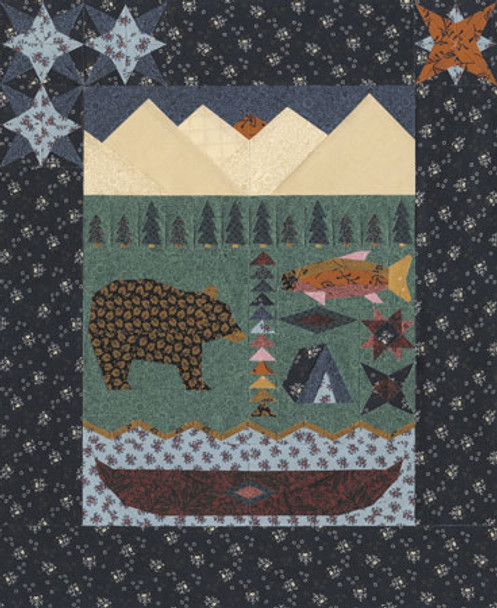 Northwoods Lodge Paper Pieced Quilt Pattern