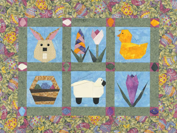 Spring Treats Free Paper Pieced Quilt Pattern