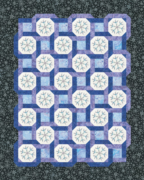 Blue on White Paper Pieced Quilt Pattern