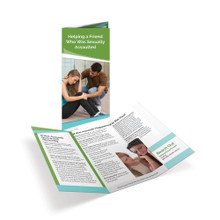Helping a Friend Who Was Sexually Assaulted Tri-Fold Brochures
