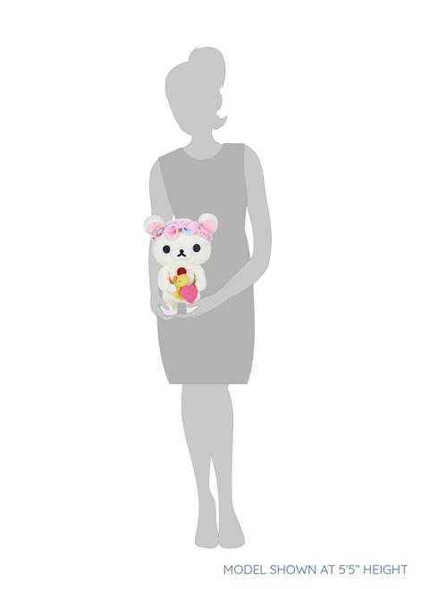 Korilakkuma Bath Time Pink Heart Rubber Ducky Plush Stuffed Animal