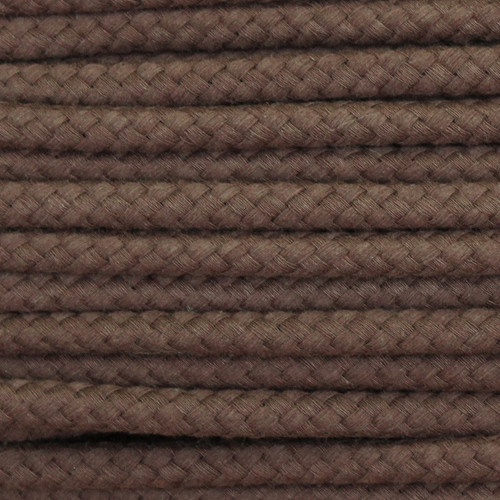 Double Woven Cotton Cord (8 mm):  Brown
