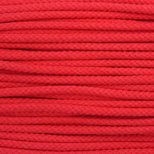 Double Woven Cotton Cord (5 mm):  Red