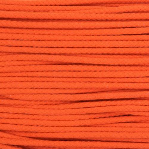 Double Woven Cotton Cord (5 mm):  Orange