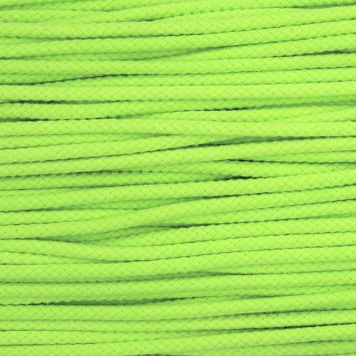 Double Woven Cotton Cord (5 mm):  Lemon Lime