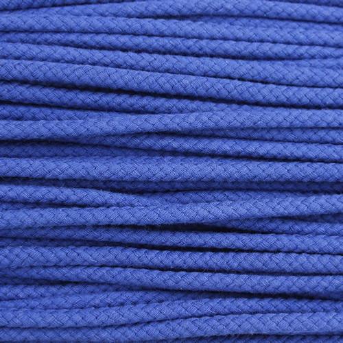 Double Woven Cotton Cord (5 mm):  Royal Blue